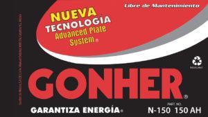 Etiqueta bateria Gonher